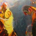"""""""Vaisingumo deivės pagarbinimas"""". Drobė, aliejus 105x75 cm, 2012 m."""