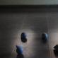 Balandžiai stebi raketos paleidima. 2012. Instaliacijos fragmentas. Gipsas, putų polistirolas, glaistas, akrilas.