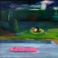 Be pavadinimo,  drobė, aliejus, purškiami dažai, 99×69, 2015