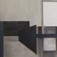 """Iš ciklo """"Sukonstruoti pojūčiai"""", drobė, akrilas, anglis. 100cm x 100cm, 2013m."""