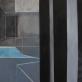 """""""Perregima erdvė"""", drobė, aliejus, pastelės. 100cm x 100cm, 2013m."""