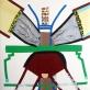 Kosminė operacija. 2012. Popierius, mišri technika. 100x70 cm