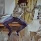 Tššš..., drobė, aliejus. 146x184 cm (keturi darbai po 73x92 cm kiekvienas), 2012