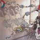 Žaidimų kambarys. Kai Bratz svajojo tapti Barbe, 2012, spauda ant dr., akr., markeris156x182