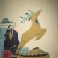 """Lyg seni sapnai. Iš ciklo """"Vėl"""". 2012. Medžio raižinys, aliejus, drobė, 110 x 120 cm"""