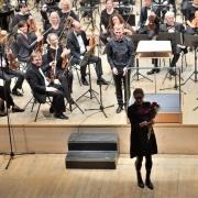 Žibuoklė Martinaitytė, Karolis Variakojis ir Lietuvos valstybinis simfoninis orkestras. V. Abramausko nuotr.