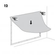 Ikea instrukcija, kaip prisiklijuoti paveiklą prie sienos, nuotr. šaltinis ikea.lt