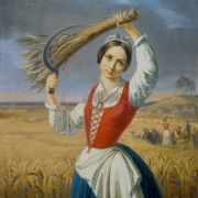 "Kanutas Ruseckas, ""Pjovėja"". 1844 m."