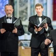 """V. Augustinas ir choras """"Vilnius"""", nuotr. D. Matvejevo"""