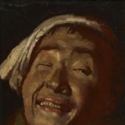 """Kanutas Ruseckas, """"Besijuokiantis italas"""", 1824, LDM"""