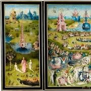 """Hieronymus Bosch """"Žemiškųjų malonumų sodas"""", 1490-1510, Museo del Prado (Madridas)."""