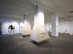 "Rieko Koga, parodos ""I am here for you"" Pamėnkalnio galerijoje fragmentas. V. Nomado nuotr."