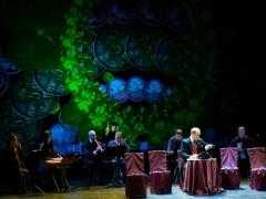 """Edmundas Seilius (Marcelinas  Šeškas) ir Kauno muzikos ansamblis """"Ainiai"""". R. Budrio nuotr."""