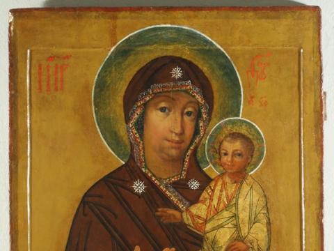 Lukiškių Dievo Motina prieš restauravimą
