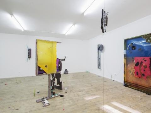 """Jakub Choma, parodos """"Resilience"""" vaizdas projektų erdvėje """"Editorial"""". 2019 m. U. Gelgudos nuotr."""