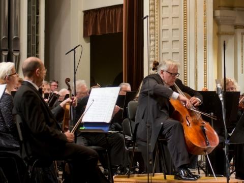 David Geringas ir Lietuvos nacionalinis simfoninis orkestras. D. Matvejevo nuotr.