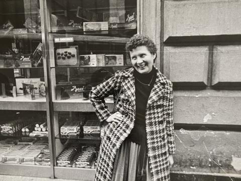 Gražina Drėmaitė, nuotrauka iš kelionės su Lietuvių liaudies meno paroda į Ankoną (Italijoje). Iš asmeninio archyvo