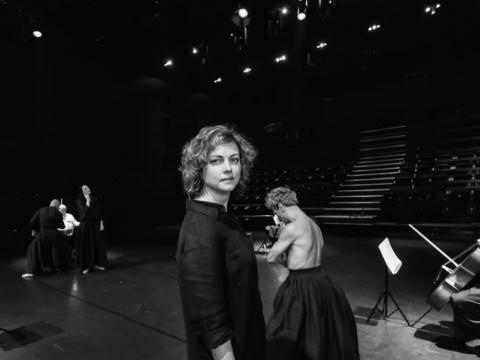 """Agnija Šeiko spektaklio """"Metų laikai"""" repeticijoje. D. Matvejevo nuotr."""