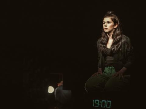 """Ieva Kaniušaitė spektaklyje """"Mama"""". Jaunimo teatro nuotr."""