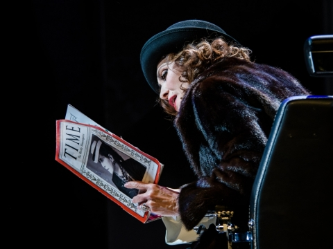 """Inga Maškarina spektaklyje """"Madam Rubinštein"""". L. Vansevičienės nuotr."""
