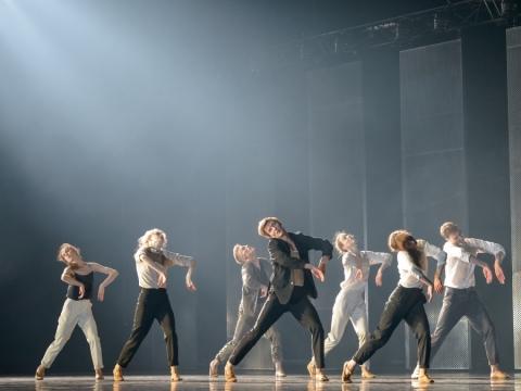 """Scena iš baleto """"Dienos, minutės"""". M. Aleksos nuotr."""