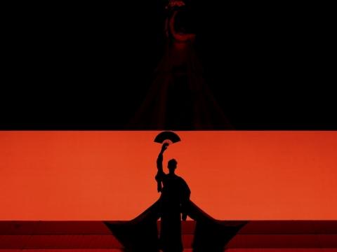 """Scena iš operos """"Madam Baterflai"""". M. Aleksos nuotr."""