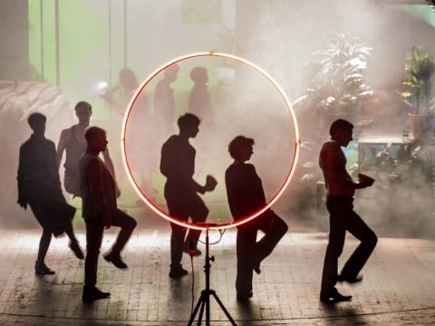 "Scena iš spektaklio ""Lokis"". D. Matvejevo nuotr."