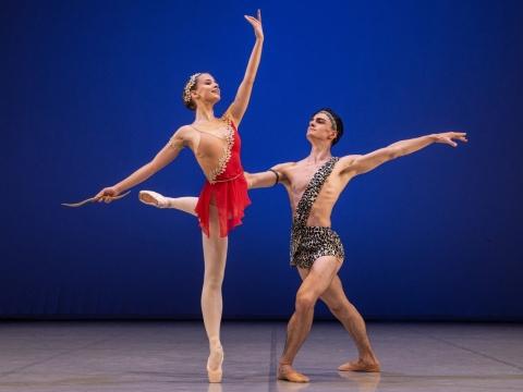 VakarÄ— RadvilaitÄ— ir Deividas Dulka Baleto skyriaus Gala koncerte. M. Aleksos nuotr.