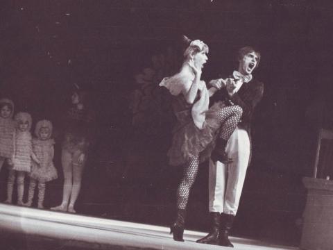 "Valentina Tarasova ir Voldemaras Chlebinskas balete ""Daktaras Aiskauda"". R. Vilavičiaus nuotr."