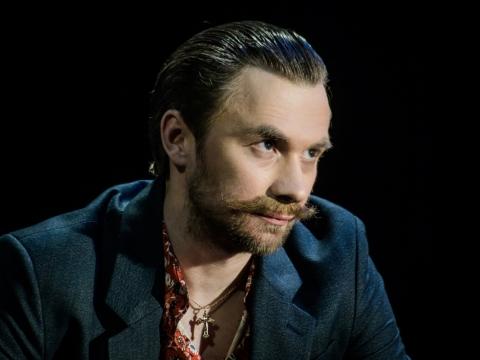 "Valentinas Novopolskis spektaklyje ""Idiotas"". L. Vansevičienės nuotr."