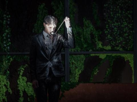 "Valerijus Kazlauskas spektaklyje ""Testas"". L. Vansevičienės nuotr."