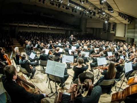 """Baltijos šalių orkestrų festivalio koncertas """"100 stygų"""" Kongresų rūmuose. D. Matvejevo nuotr."""