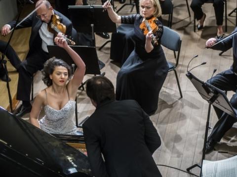 Katia Buniatišvili, Kristjan Järvi, Lietuvos nacionalinis simfoninis orkestras. D. Matvejevo nuotr.