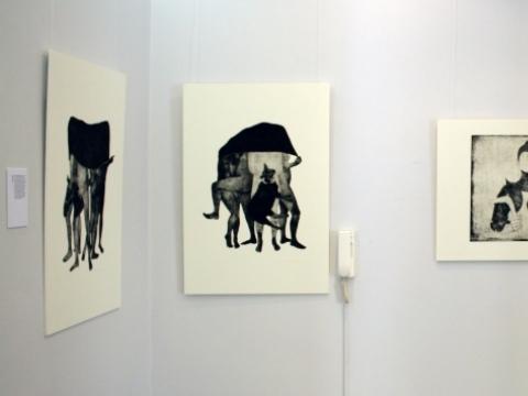 """Augustas Bidlauskas, parodos """"Įsikūnijimai"""" fragmentas. A. Lekytės nuotr."""