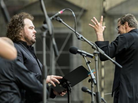 Kristian Benedikt ir Modestas Pitrėnas. D. Matvejevo nuotr.
