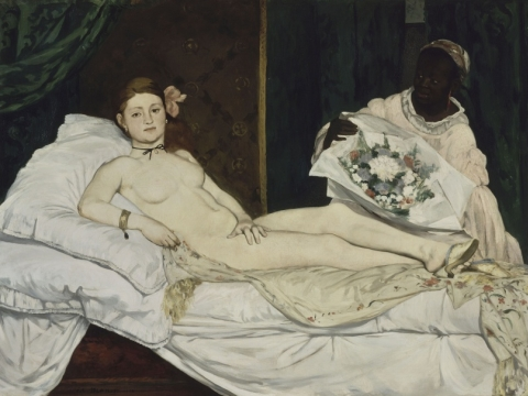 "Édouard Manet, ""Olimpija"". 1863 m."