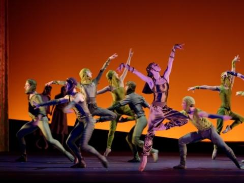 """Scena iš baleto """"Eglė žalčių karalienė"""". M. Aleksos nuotr."""