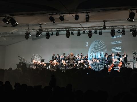 """""""Gaidos"""" atidarymo koncertas. Lietuvos kamerinis orkestras, choras """"Vilnius"""", Martynas Stakionis. J. Dargytės nuotr."""