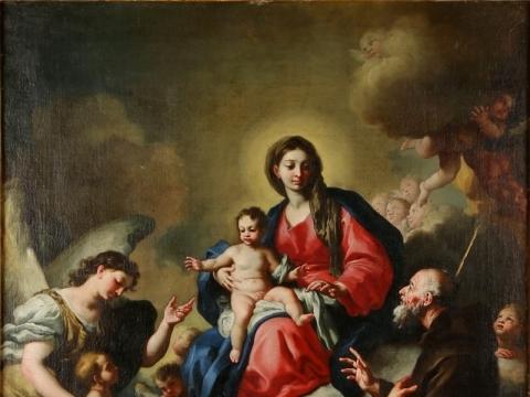 """Iš Vilniuje eksponuojamos XVI–XVIII a. italų tapybos kolekcijos. Francesco Solimena, """"La Vergine col Bambino"""". Parodos rengėjų nuotr."""