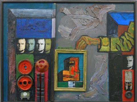 """Vincas Kisarauskas, """"Keturi autoportretai ir ranka"""". 1971–1972 m. A. Narušytės nuotr."""