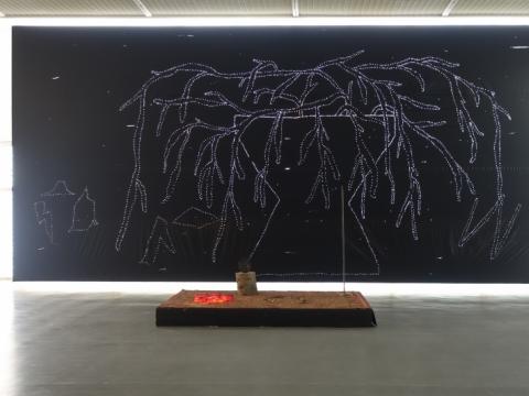 "Žilvinas Landzbergas, ""Be karūnos"", fragmentas. 2015 m. A. Narušytės nuotr."