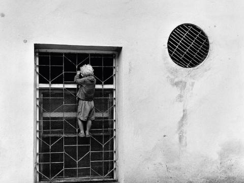 """Algimantas Kunčius, """"Mano mažasis princas"""", konditerijos fabriko """"Pergalė"""" langas Latako g. 1967 m."""