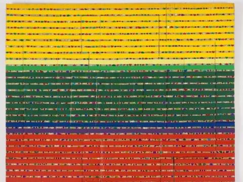 """Ričardas Nemeikšis, """"Spektrinė analizė"""". 2015 m. V. Ilčiuko nuotr."""