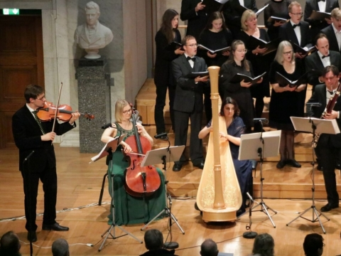 """Ensemble international"" ir Oslo universiteto choras. A. Gasiūnaitės nuotr."