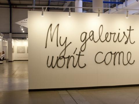 """Saulius Leonavičius, """"Mano galeristas neateis"""", galerija """"Pitt Projects"""", Jungtinė Karalystė. Autorės nuotr."""