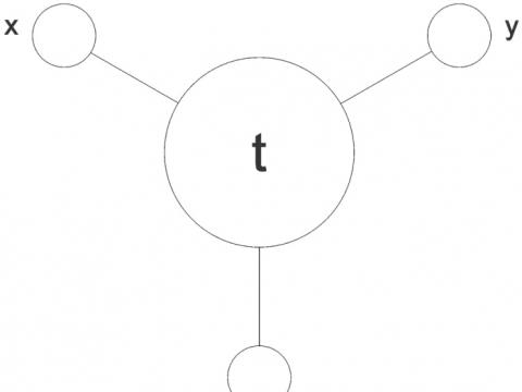 "Tomas Daukša, parodos ""3"" schema. 2014 m."