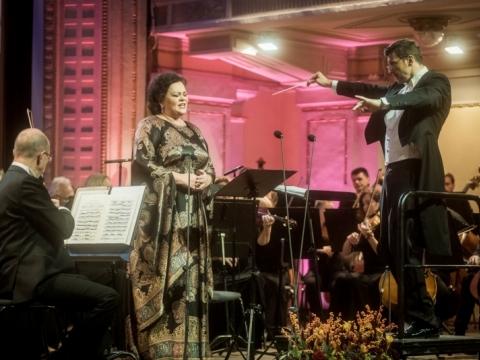 Violeta Urmana, Modestas Pitrėnas ir Nacionalinis simfoninis orkestras. D. Matvejevo nuotr.