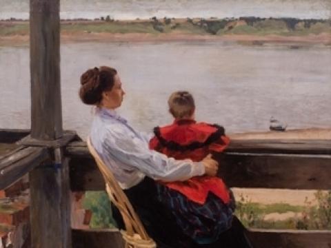 Sergejus Vinogradovas. Vasarnamis prie Volgos. 1901. Lietuvos dailės muziejus
