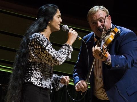 "Monika Lakatos ir ""Szatmar string band"". D. Klovienės nuotr."