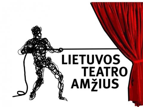 """Projekto """"Lietuvos teatro amžius"""" logotipas. Autorius – Liudas Parulskis."""